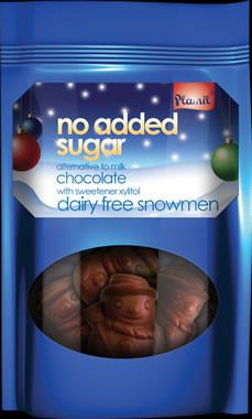 Bonecos de neve de chocolate sem açúcar 125g – sem glúten
