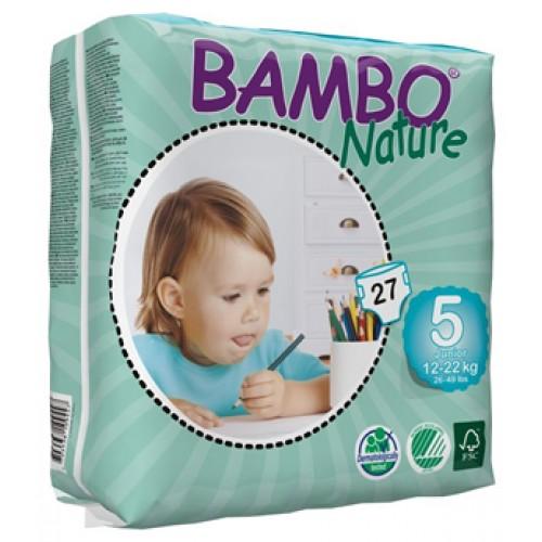 Fraldas Bambo Nature Eco-descartáveis Junior 12 a 22kg (27 unidades)