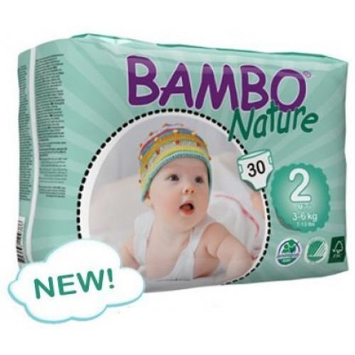 Fraldas Bambo Nature Eco-descartáveis Mini 3-6Kg (30 unidades)