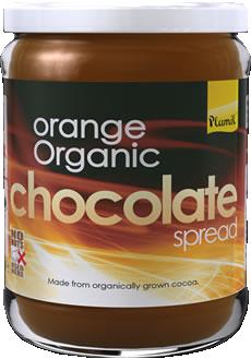 Creme de chocolate com laranja biológico - sem glúten