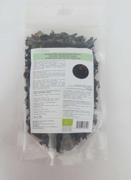 Algas biológicas para saladas Midzu 50g