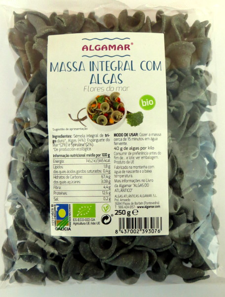Massa integral com algas flores do mar biológica 250g