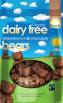 Ursinhos de chocolate biológico de comércio justo 125g - sem glúten