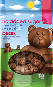 Ursinhos de chocolate sem açúcar  125g - sem glúten