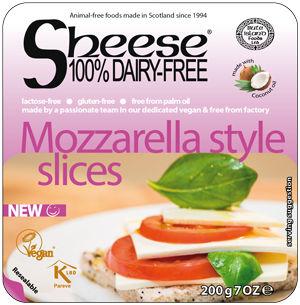 Queijo vegano Mozzarella em fatias