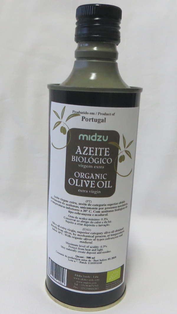 Azeite biológico virgem extra Midzu 500 ml (lata)