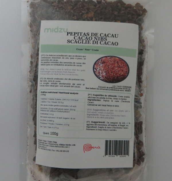 Pepitas de cacau Midzu 100 g