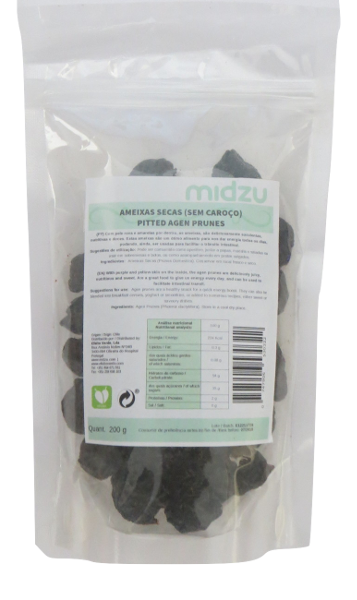 Ameixas secas sem caroço Midzu 200 g
