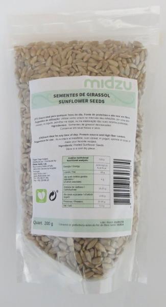 Sementes de girassol Midzu 200 g
