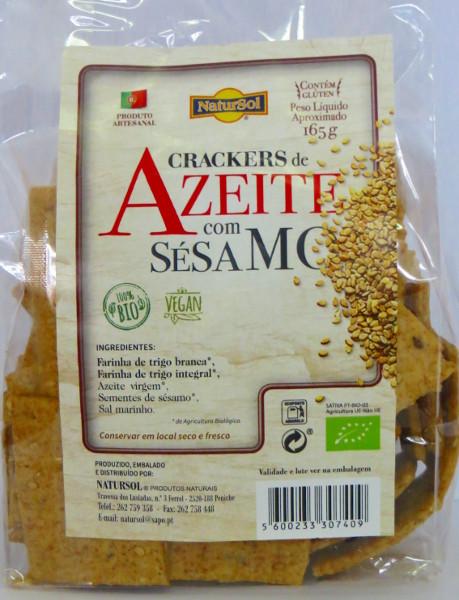 Crackers de azeite com sésamo biológicas 165g