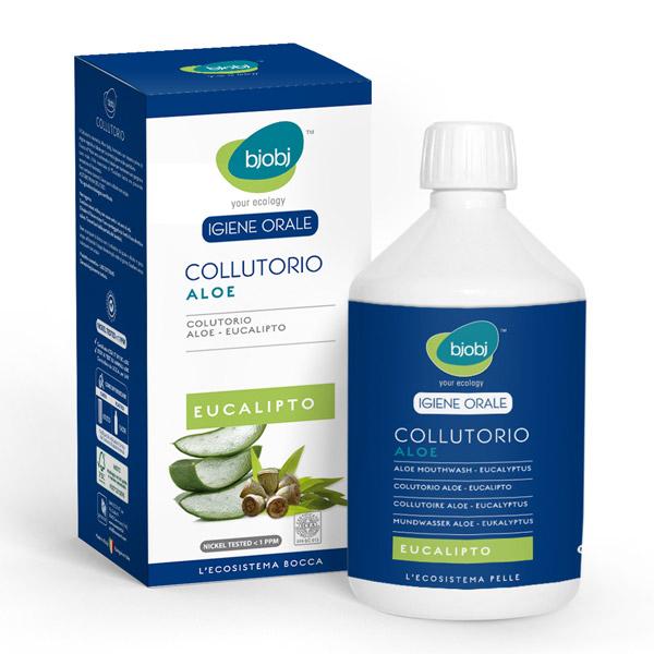 Elixir oral de aloé vera e eucalipto 500ml - Bjobj