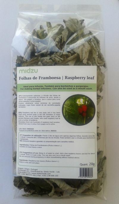 Folhas de Framboesa Midzu 20g