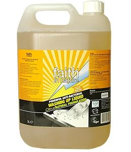 Detergente antibacteriano para louça 5L  Faith in Nature