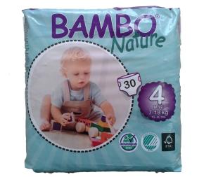 Fraldas Bambo Nature Eco-descartáveis Maxi 7-18kg (30 unidades)