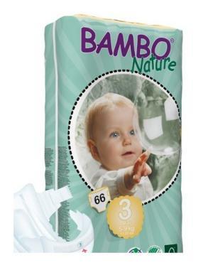Fraldas Bambo Nature Eco-descartáveis Midi 5-9kg (66 unidades)