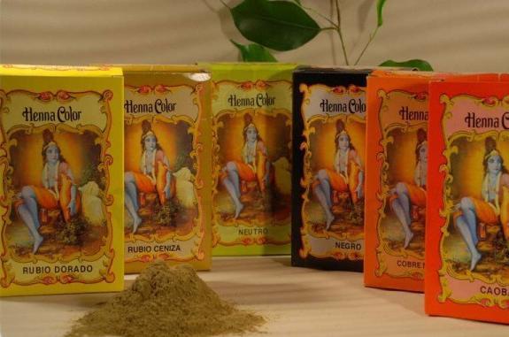 Coloração em pó Henna Color Castanho médio 100 g - Radhe Shyam