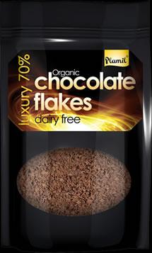 Flocos de chocolate biológico 125g - sem glúten