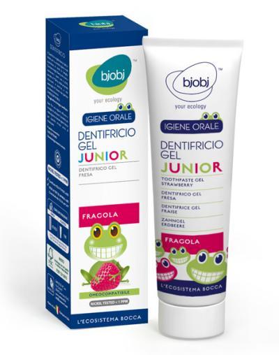 Pasta de dentes em gel para criança com sabor a morango - Bjobj