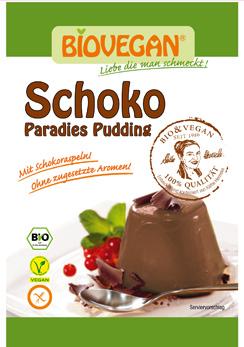 Pudim de chocolate biológico - sem glúten