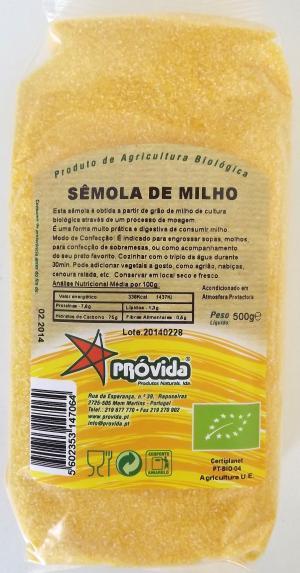 Sêmola de milho BIO Próvida 500g